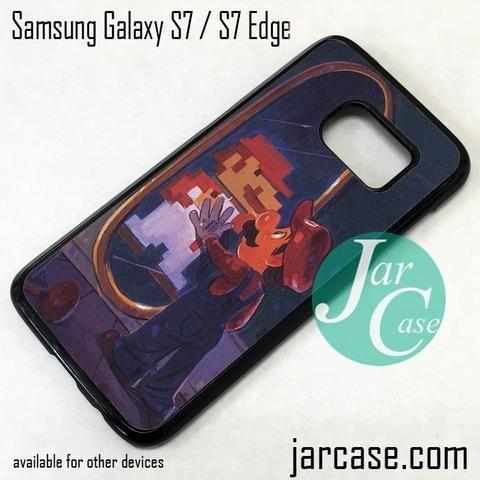 Mario In Mirror Phone Case for Samsung Galaxy S7 & S7 Edge