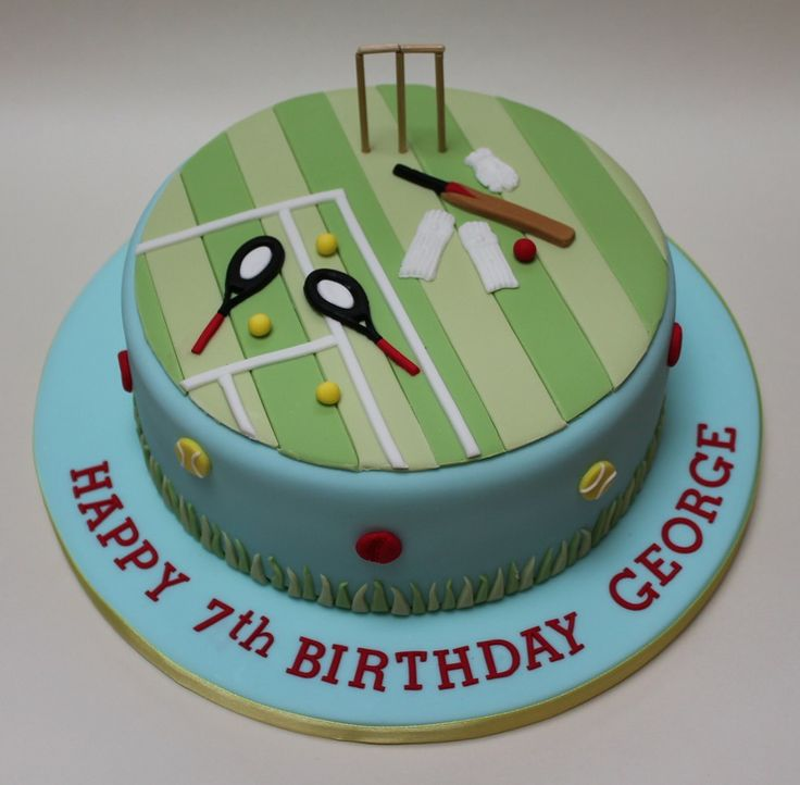 Sport cake - Tennis and cricket