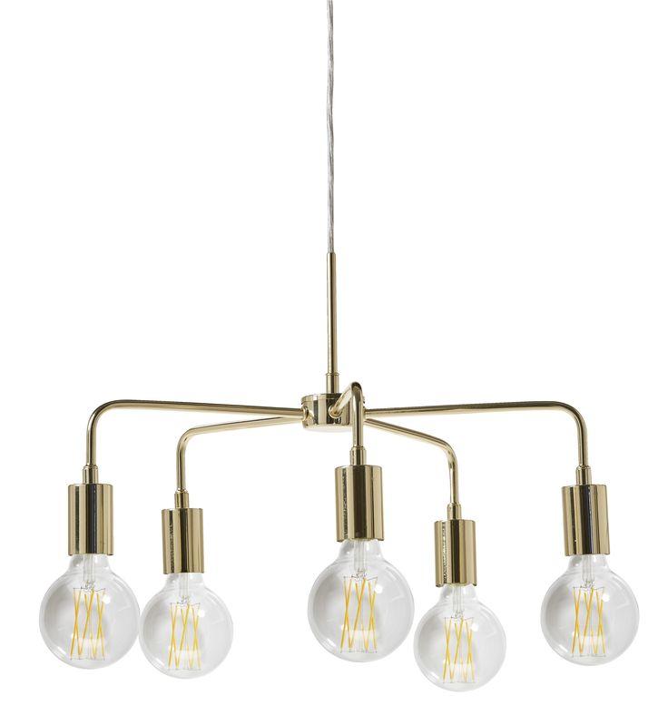 Taklampa Crown Nude drar blickarna till sig och blir en dekorativ detalj i ditt hem var du än hänger den. Passar lika bra över matbordet som över sängen. Komplettera med en snygg ljuskälla för rätt känsla.