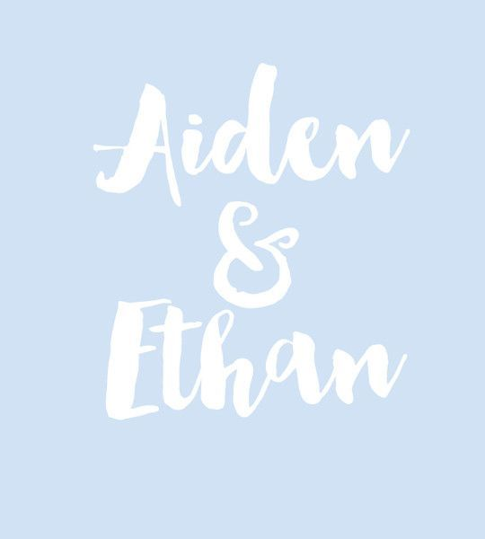 Aiden & Ethan - Baby Names That Are Perfect for Twins - Photos