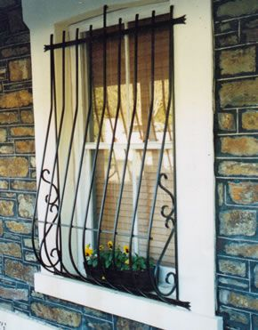 17 best images about home exterior on pinterest iron for Exterior window grill design