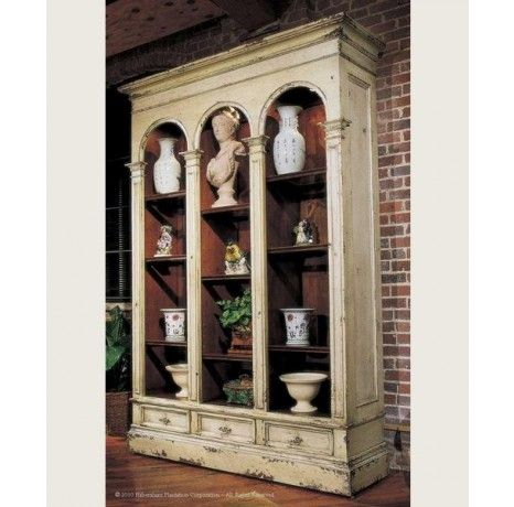 Versailles Bookcase with Glass Shelves and Lights - 9' | Habersham 27-1720 | Boyles.com