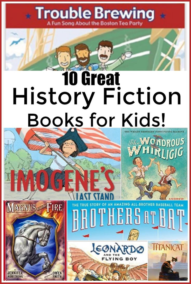 10 Great History Fiction Books for Kids - Are you looking for a fun way to bring History in your homeschool? Don't miss these 10 great History fiction books for kids!