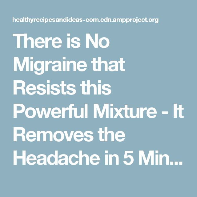 There is No Migraine that Resists this Powerful Mixture – It Removes the Headache in 5 MinutesCathy Olczyk