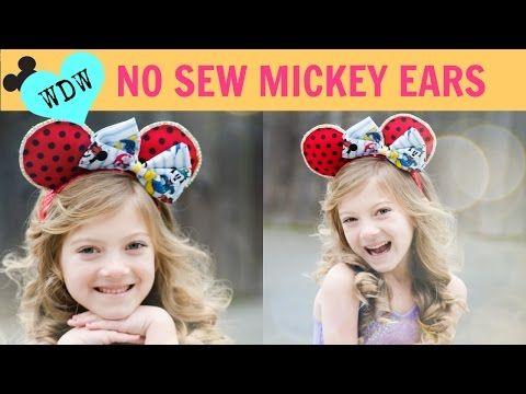 BEST No sew MINNIE + MICKEY Ears Around! - YouTube