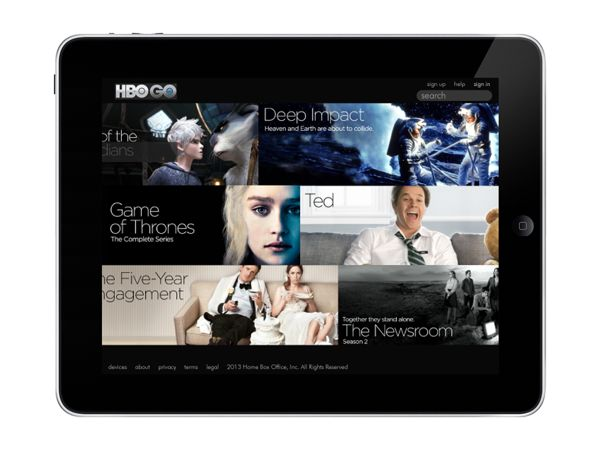 HBO GO app for iPad | Graphic UX/UI on Behance