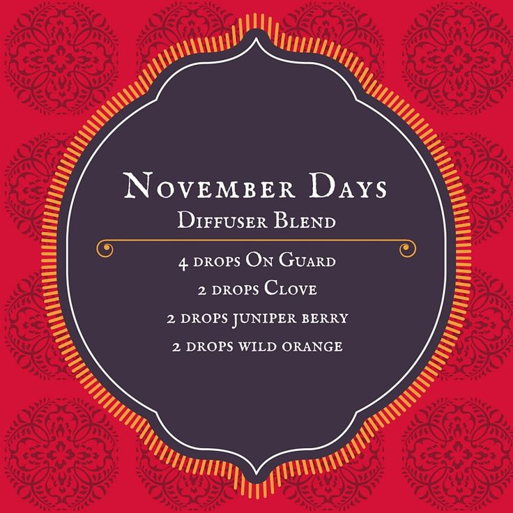 November Days #diffuser blend #essentialoils
