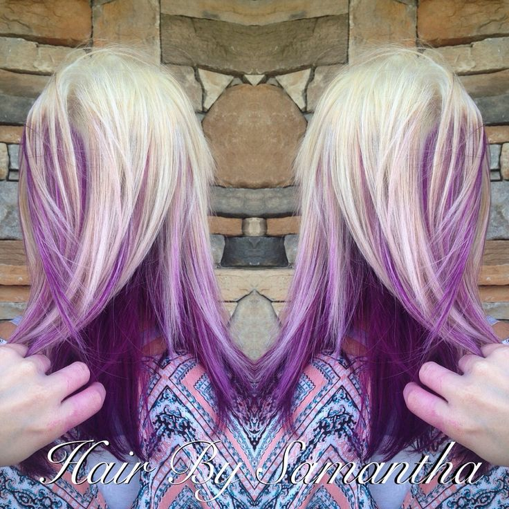 best 25 purple peekaboo hair ideas that you will like on