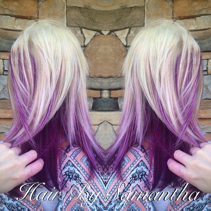The 25 best purple peekaboo highlights ideas on pinterest blonde hair with pink purple peekaboo highlights pmusecretfo Image collections