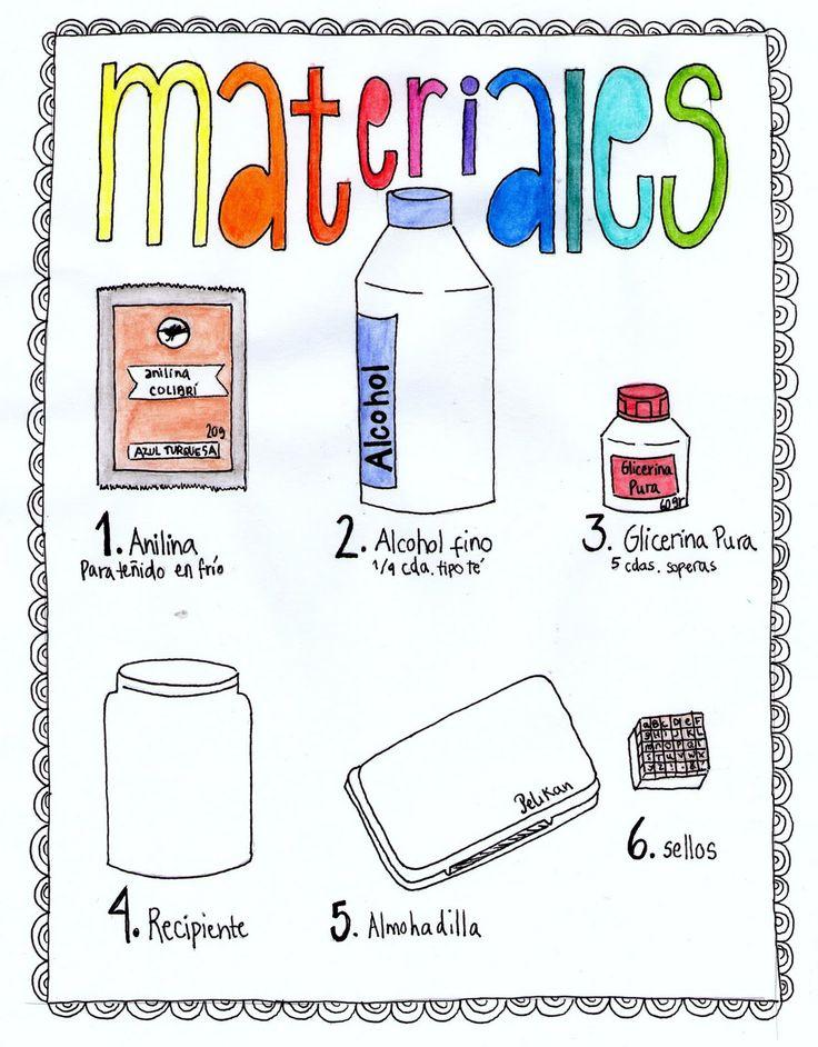 TUTORIAL: Tinta para sellos casera! | Haciendo en Buenos Aires...