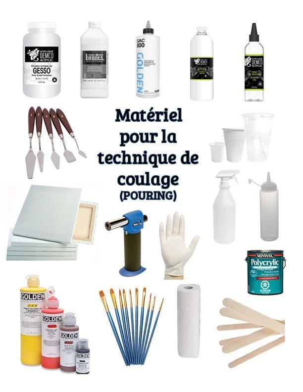 Materiel Technique Du Coulage Pouring Technique Peinture