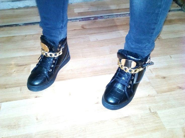 Ocieplane  Sneakersy płaskim