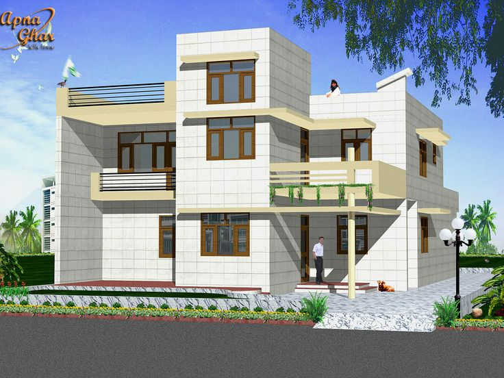 Good Front Design Of House Construction In India Part - 6: FE-1 · Architecture House DesignHome ...