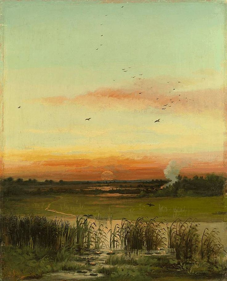 Alexei Savrasov (Russian, 1830-1897)Evening Light, 1872. Oil on canvas.