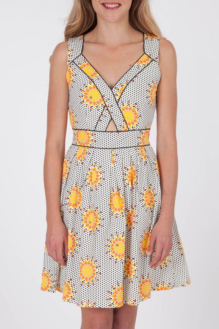 Trollied Dolly Mind The Gap Dress - Womens Knee Length Dresses - Birdsnest Online Fashion Store