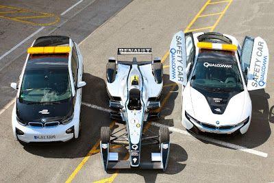 BMW Formula E course cars