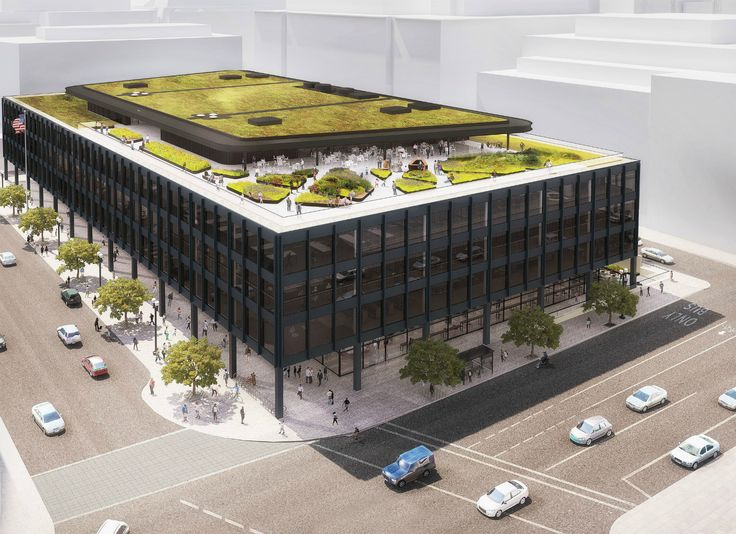 Mecanoo to update Washington's MLK Library with massive green roof