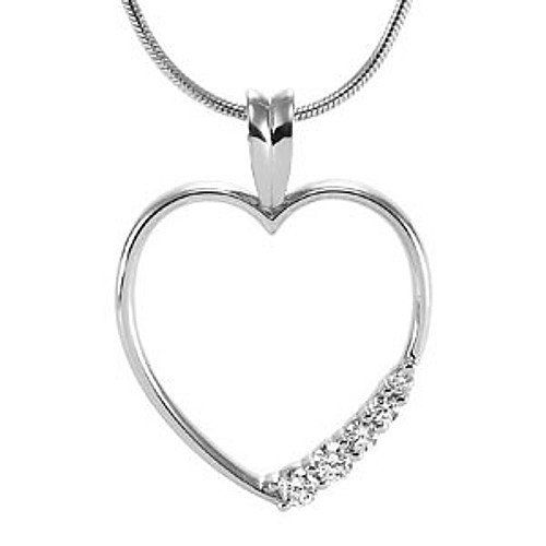 Platinum Diamond Heart Pendant - 0.23 Ct. Gems-is-Me. $998.50. FREE PRIORITY SHIPPING. This item will be gift wrapped in a beautiful gift bag. In addition, a 'gift message' can be added.. Save 40%!