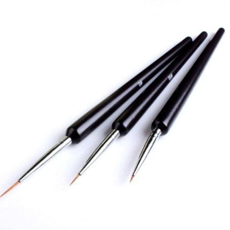 3Pcs Dotting Painting Drawing UV Gel Liner Polish Brush Tool Nail Art PenAP27. Click visit to buy #NailPolishRemover