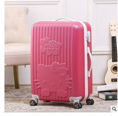"Luxury Brand 20"" 24"" Inch Women Travel Luggage Suitcase Travel Trolley Case Spinner Travel Spinner Case Rolling Luggage Case"