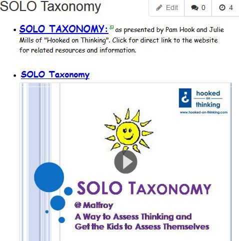 SOLO Taxonomy | Three Rivers