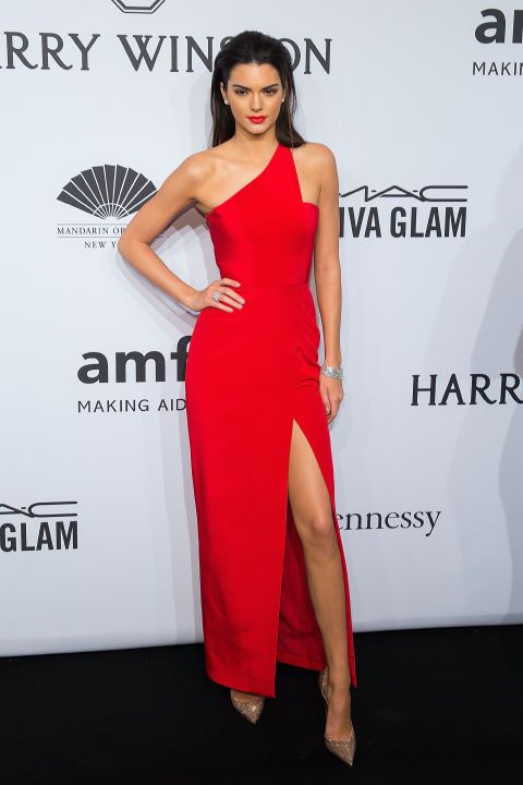 In Romona Keveza at the amFAR gala in New York. See all of Kendall Jenner's best outfits.
