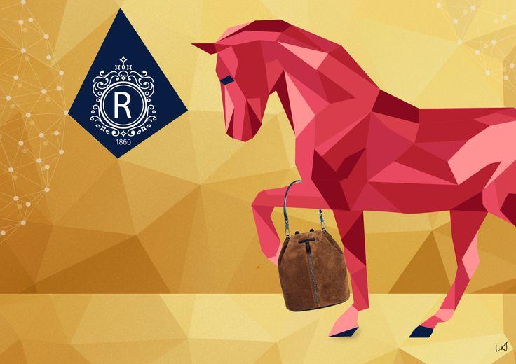VNDesign, VNDesign Digital Agency, window-display, fashion, illustration, cool design sells, design sells, horse, bag