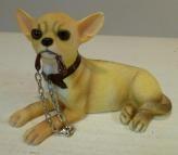 Nu 11,95 euro Hondenbeeldjes Chihuahua met riem Walkies