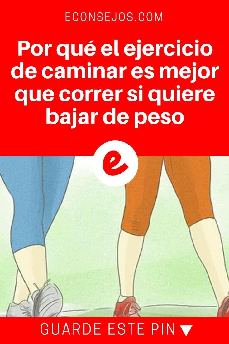 correr o caminar para bajar de peso