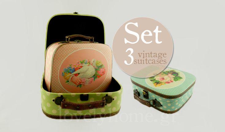 3 vintage βαλίτσες για να αποθηκεύσεις αντικείμενα, αλλά και να διακοσμήσεις ταυτόχρονα το σπίτι σου και διάφορα events