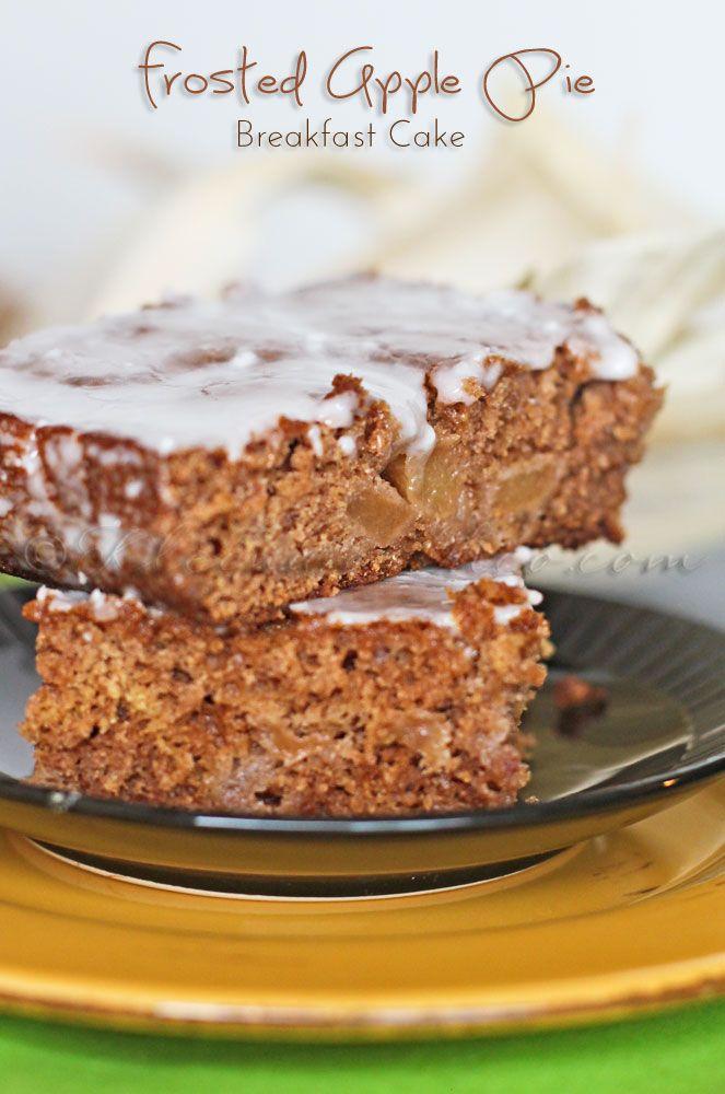 Frosted Apple Pie Breakfast Cake on MyRecipeMagic.com