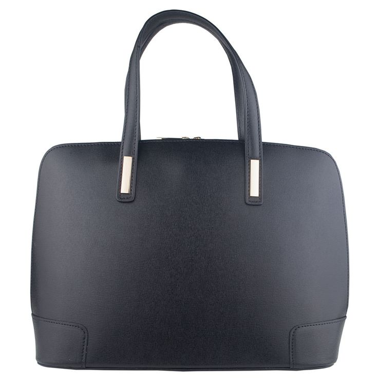 Marlafiji Fiona classic black italian leather handbag