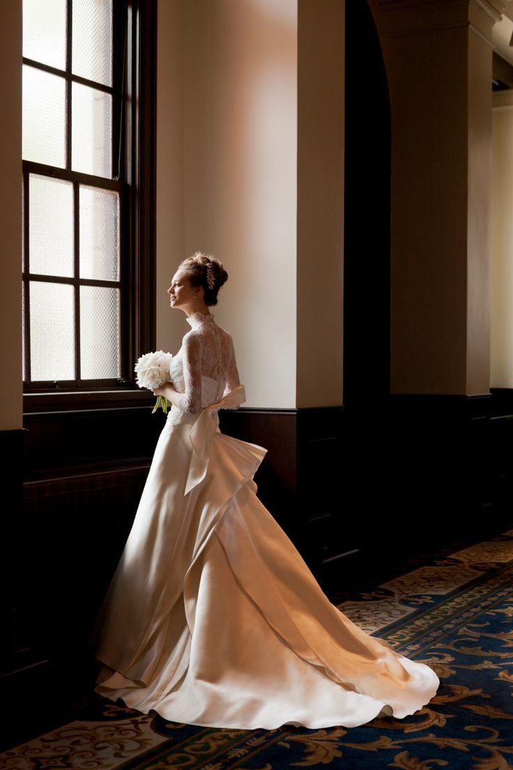 Gardenia  #NOVARESE #weddingdress #lace #Aline #mikado