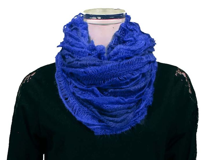Ruffled Tube Scarf - This Ruffled Tube Scarf  can be worn as a shorty infinity, or as a long scarf.  Ruffled layers provide extra softness and lightness to the scarf, with beautiful colours to match any outfit! *Available in Black, White/Grey, Pink, Coral, Red, Mint, Royal.