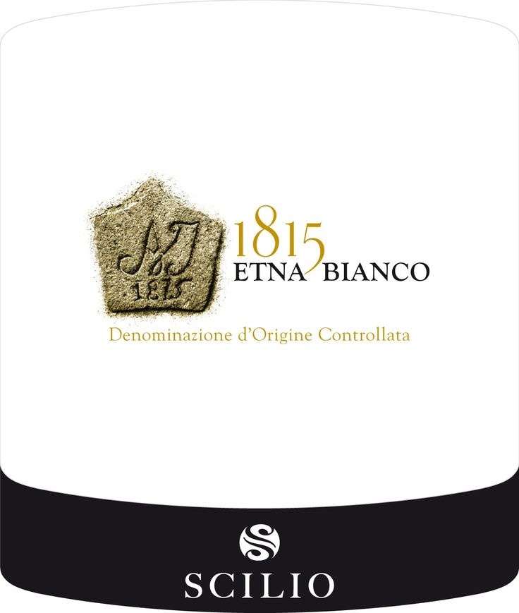 1815 label for Etna Bianco by Scilio - Italia