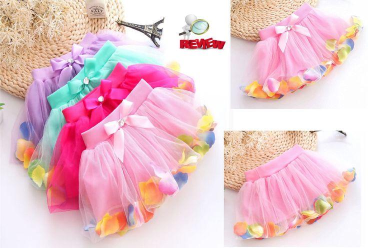Aliexpress Ebay Haul Kids Girls Petals Tutu Skirt Princess Party Dress T...