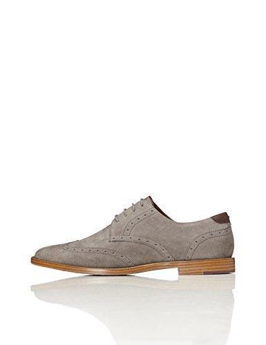 Oferta: 39€. Comprar Ofertas de FIND Zapatos Óxford de Verano para Hombre, Gris (Grey), 43 EU barato. ¡Mira las ofertas!
