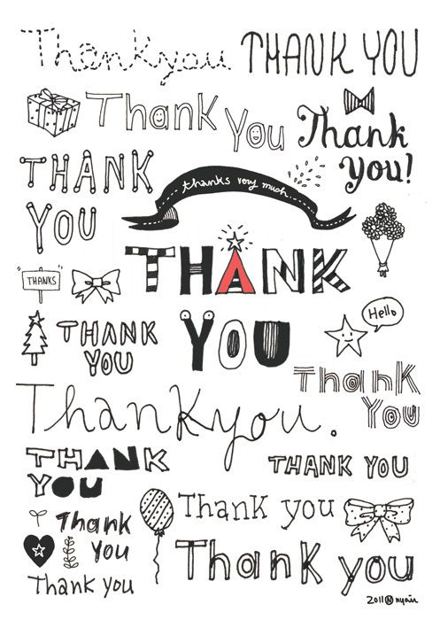 thank you thank you by Hyoin Min, via Behance