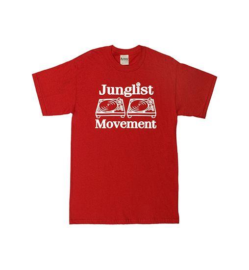 Junglist Movement T-Shirt (Red) - World of Rave