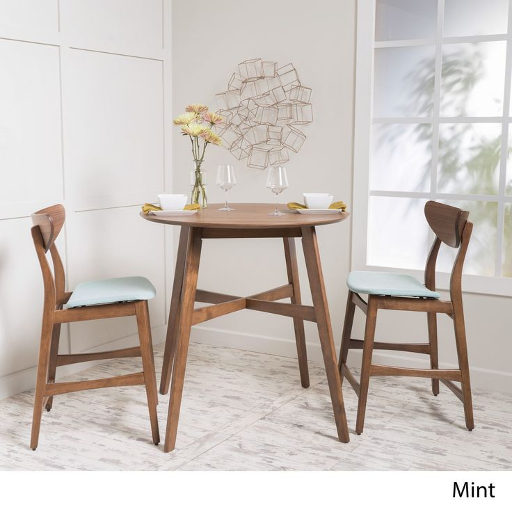 Christopher Knight Home Gavin 3-piece Wood Counter Height Round Dining Set