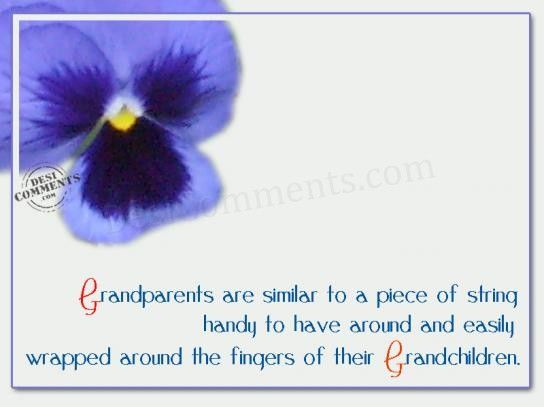 Grandparents are similar, grandparents quote, quotes for grandparents, quotes on grandparents, special quotes on grandparents, super grandparents quotes, to a piece of string