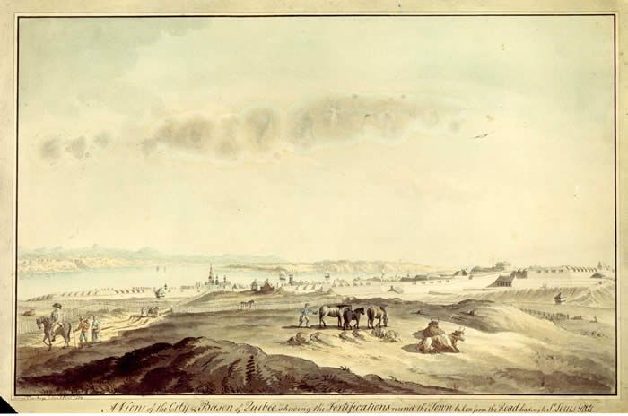 View of the Heights of Québec at the end of the eighteenth century