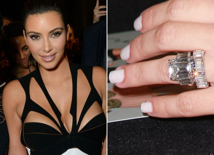 celebrity wedding rings kim kardashian image credit wedding happybeancoffeecom - Giuliana Rancic Wedding Ring