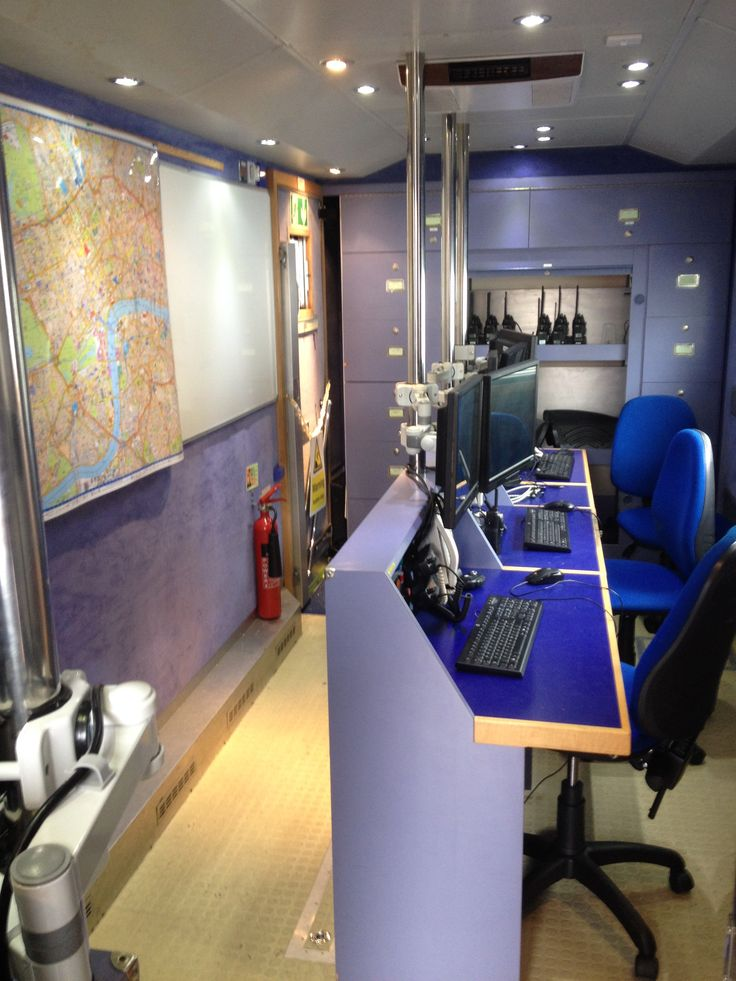 Inside the St John Ambulance Command & Control Vehicle