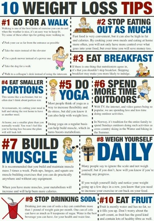10 tips for weight loss! Great reminders here.