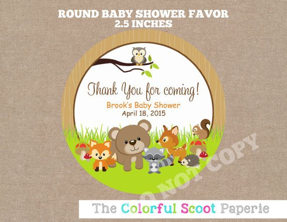 baby shower favors woodland animals baby shower woodland baby shower