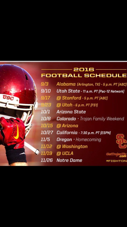 2016 USC football schedule