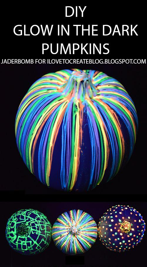 DIY Glow in the Dark Pumpkins | A Little Craft In Your Day