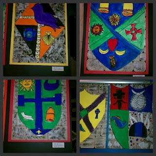 Medieval Shields Elementary Art Project
