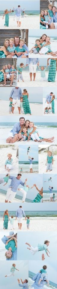 Turquoise: what to wear beach family portrait-next time we will go with this color